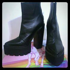 Jeffrey Campbell platform heels Never worn Jeffrey Campbell boots, thick platform and heel.. Jeffrey Campbell Shoes Heeled Boots