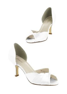 30f909457c8e Heel height 2 Dyeable shoes are sold in White as shown. Bring your dyeable  shoes to your local David s Bridal Store to have them ...