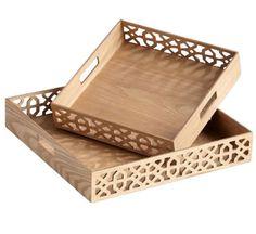 Square XOXO Trays. #accessories #tray