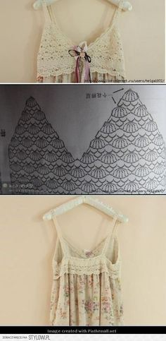Crochet this yoke for a dress or slip or top