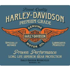 Harley-Davidson Genuine Motor Oil Tin Sign http://www.retroplanet.com/PROD/43885