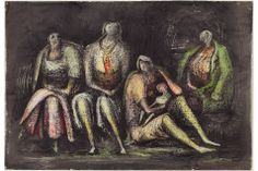 Henry Moore, Group of Shelterers during an Air Raid, 1941