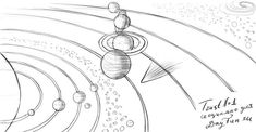 How to draw planets step by step 5