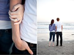 Love the shot on the left, good view of the ring, holding each other that looks unposed