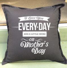 HUGE selection of Mother\'s Day Gift Pillows - customise just for mum ...