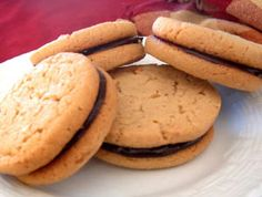 Peanut Butter Sandwich Cookies with Ganache Filling