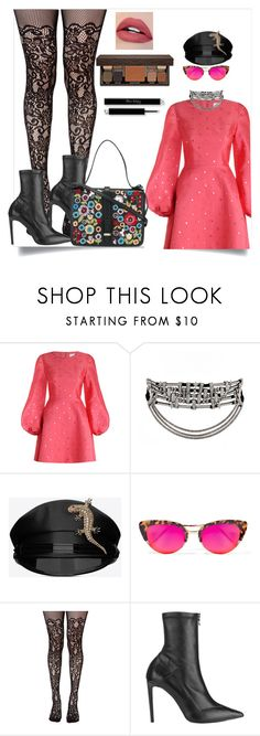 """""""Untitled #147"""" by dido-c ❤ liked on Polyvore featuring Zimmermann, Yves Saint Laurent, Krewe, Leg Avenue, Roland Mouret and Laura Mercier"""