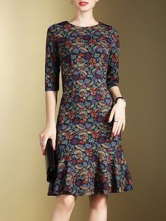 Damen Midi Kleider – Fazhion – Join in the world of pin Trendy Dresses, Simple Dresses, Cute Dresses, Casual Dresses, Short Dresses, Fashion Dresses, Midi Dresses, Dress Skirt, Dress Up