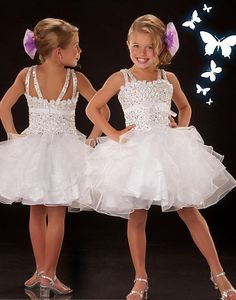 Sugar by MacDuggal White Pageant Dress