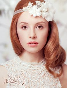 Wedding Hair Accessories, Floral Wedding Headpiece - Romantic Bridal Hair Piece with Silk Flowers and  Pearls
