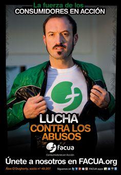Alex O'Dogherty, socio de FACUA nº 48.207, llama a los consumidores a la lucha contra los abusos