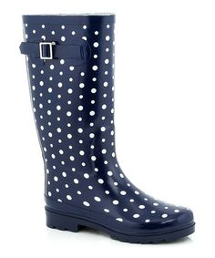 Black Polka Dot Rain Boot at Zulilly in 5 | What I want to wear ...