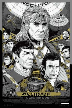 "Star Trek 2: The Wrath of Khan Poster by Tyler Stout (Variant). 24"" x 36"" screenprint, signed/numbered in an edition of 280."