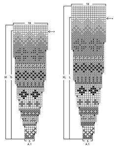 "Stavanger Cardigan - DROPS jakke i ""Alpaca"" strikket ovenfra og ned med rundfelling og flerfarget mønster på bærestk. Str S - XXXL. - Free pattern by DROPS Design"