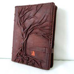 Leder Tagebuch, Notizbuch, Reisetagebuch Albero, rostbraun/bordeaux