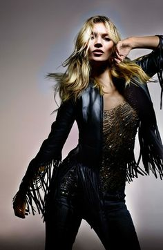 Kate Moss for Topshop Fringed Leather Jacket @Nordstrom
