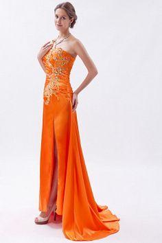 Orange Satin A-Line Celebrity Dress sfp1338 - http://www.shopforparty.com/orange-satin-a-line-celebrity-dress-sfp1338.html - COLOR: Orange; SILHOUETTE: A-Line; NECKLINE: One-shoulder; EMBELLISHMENTS: Beading , Embroidery , Sequin; FABRIC: Satin - 183USD