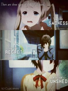 3 sad tears ( Chuunibyou quote)