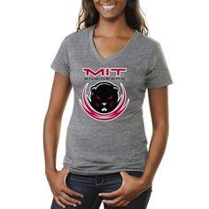 MIT Engineers Women's Logo Tri-Blend V-Neck T-Shirt - Ash - $24.99