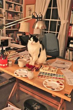 Susan Branch desk..  I would like a studio like this some day :-)