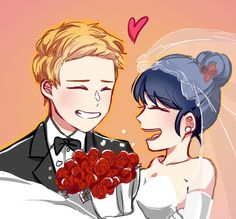 Miraculous Ladybug, Mlb, Marinette Et Adrien, Cute Anime Pics, Bugaboo, Catio, Drawing For Kids, Ladybugs, Anime Comics