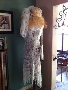 Crocheted wedding dress per Donna