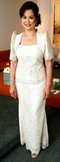 Mother Of The Bride Oct 2014 Filipiniana Dress