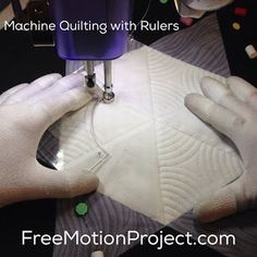 Machine Quilting a Star Block with Rulers | 365 Days of Free Motion Quilting Filler Designs | Bloglovin