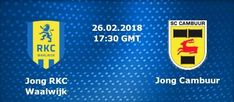 (adsbygoogle = window.adsbygoogle || ).push({});  Watch Jong RKC Waalwijk vs Jong Cambuur Live Football Stream  Live match information for : Jong Cambuur Jong RKC Waalwijk Dutch Jong Eredivisie Live Game Streaming on 26 February 2018.  This Football match up featuring Jong RKC Waalwijk vs Jong Cambuur is scheduled to commence at 17:30 UK 23:00 IST.   #JongCambuur2018DutchJongEredivisie #JongCambuur2018FootballOnlineBetting #JongCambuur2018Highlights #JongCambuur2018Predicti