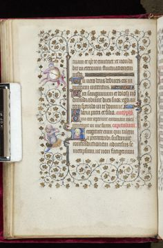 Book of Hours, MS M.919 fol. 33v - Images from Medieval and Renaissance Manuscripts - The Morgan Library & Museum