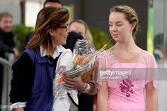 Princess Caroline of Monaco and her daughter Alexandra de Hanovre after the junior ladies free skating of ISU Junior Grand Prix of figure skating on September 11, 2015 in Linz, Austria.