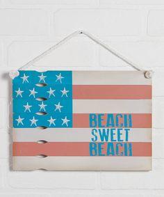 Look at this #zulilyfind! 'Beach Sweet Beach' Wall Sign #zulilyfinds