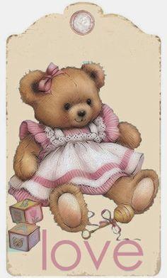 Brocante Brie - teddy bear love