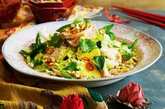Soy-poached chicken, cabbage & pineapple salad - Awaken the senses with this fast and fresh authentic Vietnamese chicken salad.