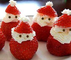 Cómo hacer un papá noel con fresas   Recetas para niños   https://lomejordelaweb.es/