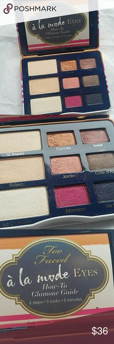 A la mode eyes Too Faced palette without box Comes with booklet  Used but A lot left! Too Faced Makeup Eyeshadow