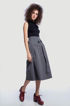 Picture of ΦΟΥΣΤΑ ΜΙΝΤΙ ΜΕ ΚΟΥΜΠΙΑ Midi Skirt, Skirts, Outfits, Shopping, Fashion, Moda, Midi Skirts, Suits, Skirt