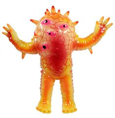 Max Toy Kaiju Eyezon Monster Kolor paint on clear Japanese vinyl by Mark Nagata.