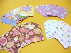 FLOWER POWER Girl Gift Tags Wrap Party Decoration by TheScrappyKat, $2.00