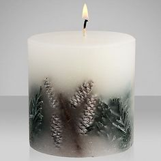 Buy John Lewis Frosted Spruce Inclusion Scented Candle Online at johnlewis.com best #candle #making