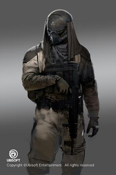 Assassin's Creed: Origins Abstergo Soldier / Layla Concepts , Jeff Simpson on ArtStation at https://www.artstation.com/artwork/AG0Ve