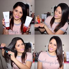 Steps on how to achieve straight/healthy looking hair: 1) Wash and condition hair with the Dove Regenerative Nourishment Shampoo and Conditioner.  2) Apply 2 pumps of the Dove Regenerative Nourishment Serum-In-Oil to dry hair to reduce frizz and boost shine or apply 3 to 4 pumps on damp hair. 3) Section off your hair with a comb and pass the flat iron from root to tip.  4) You might be late but at least you'll show up looking cute!  #MyHairStory #DovePartner