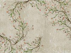 Carta da parati effetto muro con motivi floreali per bagno NEW ROMANTIC Collezione WET SYSTEM ™ 14 by Wall