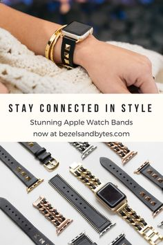 These eye-catching studs transform your Apple Watch from a tech gadget to a fashion accessory you'll love! Designed with style, high quality, and comfort in mind, this stunner features gorgeous genuin