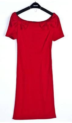 Sexy short-sleeved dress 8089 Red