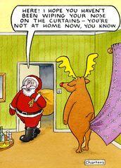 Funny Christmas cards - Seasonal humour to downright rude xmas cards Funny Christmas Cartoons, Christmas Jokes, Funny Christmas Cards, Funny Cartoons, Xmas Cards, Funny Comics, Christmas Fun, Christmas Doodles, Xmas Jokes