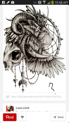 Leo tattoo idea . Probably for half sleeve