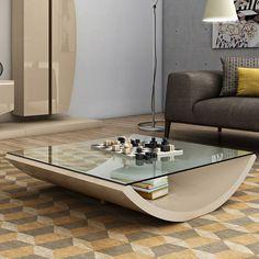 Elite High Gloss or Wood Veneer & Glass Coffee Table [SER_ELITE_EL.073.L] - £745.00 : Basic Elegance Furnishings Ltd
