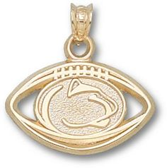 """""""Penn State Nittany Lions 7/16"""""""" """"""""Lion Head and Pierced Football"""""""" Pendant - 14KT Gold Jewelry"""": You… #Sport #Football #Rugby #IceHockey"""