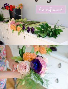 Super easy DIY bouquet! http://www.weddingchicks.com/2014/02/25/bridal-bouquet-diy/